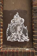 Monstruo electoral (Daquella manera) Tags: washingtondc dc paste up hillary clinton donald trump street art arte callejero