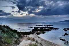 Seascape (in explore) (JB Fotofan) Tags: meer sea landscape landschaft deniz turkey türkei türkiye özdere bluehour blue blau lumixfz1000 insel mann man strand inexplore jbfotofan