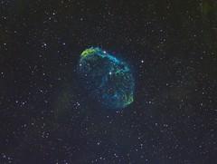 Crescent Nebula SHO (Photonen-Sammler) Tags: crescent nebula sho sii oiii ha ngc narrow band imaging astrophotography astronomy deep sky space photography stacked long exposures