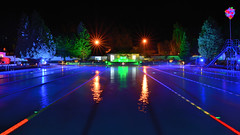 Night time magic (Gwenael B) Tags: swimming light night colours couleurs piscine pool longexposure nikond5200 tokinaaf1120mmf28 openair outdoors nightphotography water blue natation bassin lido cheltenham sandfordpark