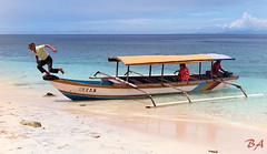 Pawole asks for a big jump! (Benisius Anu) Tags: pawole tobelo halmahera northmaluku maluku beach boat whitesand sea eastindonesia indonesia