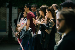 Paparazzi 1 (Мaistora) Tags: street urban city square people crowd audience spectators fans paparazzi candid portrait faces focus defocus sharp unsharp blur dof depth cinema movies movie location onlocation scene shooting filming cinecita cinematic grading color colour tonality palette filmlike look feel milano milan lombardy italy europe sony ilce alpha a6000 sel90m28g 90mm f28 lightroom