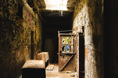 (brancher1994) Tags: dark mysterious hallway building creepy scary spiderweb door