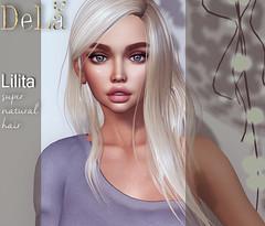 "=DeLa*= new hair ""Lilita"" (=DeLa*=) Tags: dela hair fitted rigged mesh materials secondlife secondlifefashion sl slhair style tres chic new"
