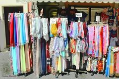 Shop WIndow (Cristian Mauriello) Tags: castelgandolfo italia italy hamlet village castelli romani street urban city objects canon color tissue red blue sun light creative