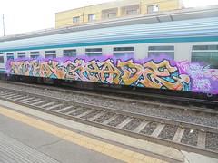 one big struggle/ demonic tutors (en-ri) Tags: torn spade train torino graffiti writing giallo lila