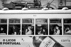 The tourists (thomasthorstensson.photography) Tags: tram composition sohinzo lisbon quietness day explore moment 2017 visitor candid honest fujifilmxt1 xf35mm14r july alfama summer searching urban monochrome amalgam anatomy bw blackandwhite blend borough citified city consider curios daylight daytime frank free looking probe seeking structure town