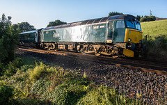 Glinting out of Liskeard (Rails West) Tags: class57 cornwall fgwclass57 liskeard locations sleeper 57605 1c99 locomotive