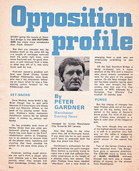 Manchester City vs Chelsea - 1974 - Page 4 (The Sky Strikers) Tags: manchester city chelsea maine road football league first division match magazine 10p