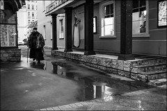 2a7_DSC0477 (dmitryzhkov) Tags: reflection water puddle corner step steps stair stairway restaurant disabled porch invalid beggar church rogue tramp beard fake fakemonk monk day daylight motion movement walk walker walkers pedestrian pedestrians sidewalk sony alpha black blackandwhite bw monochrome white bnw blacknwhite bnwstreet art city europe russia moscow documentary journalism street streets urban candid life streetlife citylife outdoor outdoors streetscene close scene streetshot image streetphotography candidphotography streetphoto candidphotos streetphotos moment light shadow people citizen resident inhabitant person portrait