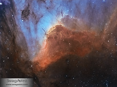 Pelican nebula (IC5070) in bi colour (Sara Wager (www.swagastro.com)) Tags: sarawager swagastro wwwswagastrocom astrophotography astro astronomy astrodon astronomia astrology cosmos cosmology constellation deepspace deepskydso emission emissionnebula interstellar nebula nebulosity nebulae pelicannebula ic5070 herbigharo hh555 stars star skyatnight sky skies space science universe bicolour mesu mesu200 qsi683 qsi tmb tmb1521200 refractor telescope