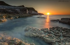Eastern Delight (Pureo) Tags: flamborough bemptoncliffs eastriding yorkshire northsea seascape sea serene sunset rocks rockpool nobbly longexposure le leefilters littlestopper canon canon6d glow canondslr coast