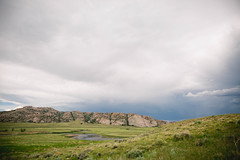 Martin's Cove, Wyoming landscape (KieraJo) Tags: canonef24mmf14liiusm l lens canon 5d mark 3 iii 5d3 fullframe dslr wide angle lds mormon pioneer trek martins cove martinscove pioneertrek beautiful sky clouds handcarts wagon wheel wyoming landscape west water trail