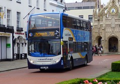Stagecoach South 15598 (GX10 HBG) Chichester 26/7/17 (jmupton2000) Tags: gx10hbg coastliner 700 alexander dennis enviro 400 scania stagecoach south uk bus southdown coastline sussex