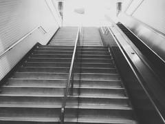(sftrajan) Tags: montgomerystation munimetro sanfrancisco photodirectorsoftware staircase bw edited stairway subway station 2017 california transit transport escalator samsungj3 android