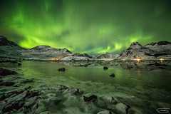 Green Symphony (tsanchezruiz) Tags: nightshot nightphotography nightscape night nightlife fotografíanocturna paisaje paisajenocturno auroraboreal northernlights green stars estrellas norwey noruega lofotenislands lake travel amazing snow largaexposición longexposure noche landscape aurora