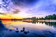 Breisach am Rhein (Radek Lokos Fotografie) Tags: breisach rhein sonnenuntergang sunset wasser fluss water schiff boot