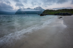 Arctic Beach (eriknst) Tags: vesterålen norway norwegen norvege nikon d810 1424mm sirui nisi beach landscape seascape water ocean fog clouds nature waves blue green calm sand