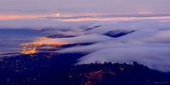 Fog Rolling into Bay Area|Marin County, California (miltonsun) Tags: rollingfog foginbayarea bayarea marincounty california sanfrancisco lowfog foginsf cityscape skyline longexposure dusk seascape bay ngc wave ocean shore seaside coast westcoast pacificocean landscape outdoor clouds sky water rocks mountains rollinghills sea evening sunset nightphotography nightscene night