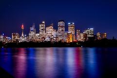 CBD views (Kent Eriksson) Tags: bluehour longexposure nightphotography nikond610 scandiphotoclub sydney sydneyharbour water newsouthwales australia au
