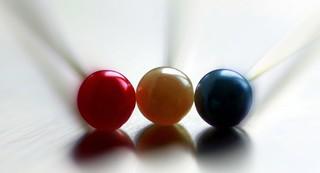 Three pins