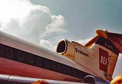 Hawker Siddeley 121 Trident 1 (Leonard Bentley) Tags: hawkersiddeleyhs121trident1 heathrow britisheuropeanairways livery london uk 1966 1967 1968 jet airliner garpz