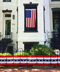 Independence Day (ekelly80) Tags: 4thofjuly independenceday july2017 dc washingtondc red white blue rowhouse house decorations americanflag starsstripes summer corcoranstreet