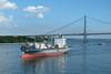 Verrazano-Narrows Bridge (nfin10) Tags: fujifilm xt1 verrazanonarrows bridge cargo ship manhattan new york