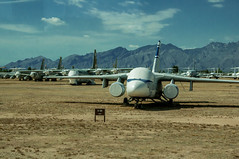 Tuscon Air Force Boneyard (10 of 25) (macfanmd) Tags: yellow arizona aircraft boneyard airforce davismonthanafb afb vintageaircraft desert history historic military