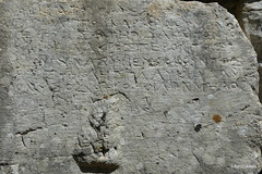 0014 Greek Wall Inscription, Near Baptistry, Butrint (1) (tobeytravels) Tags: albania butrint buthrotum illyrian greek wallinscription