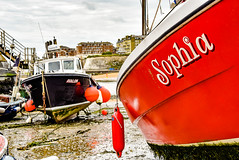 Sophia and Avalon on Viking Bay, Broadstairs (philbarnes4) Tags: broadstairs thanet kent england unitedkingdom nikon d5500 landscape beach water sea coast coastline coastal sand dslr philbarnes vikingbay fishingboats fishing boat boats