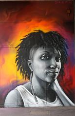 DREPH (surreyblonde) Tags: streetart grasffiti cans spray walls croydon uk artsquarter croydonstreetart rise sony a6000 cr0 urban girl dreph portrait