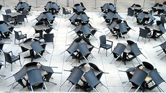 Outdoor Patio, Toronto, Ontario (duaneschermerhorn) Tags: outdoor patio downtown city urban tables chairs empty organized pattern ruby5 ruby10