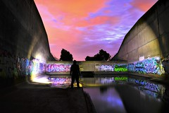 Explore Everything... (JAZ-art) Tags: storm water drain big underground round pipe burp tubbel light painting explore