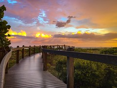 Boardwalk to the Sunset (Will-Jensen-2020) Tags: beach park lighthousepoint southpoint gulfofmexico sanibelisland usa florida sanibel island sancap sunset boardwalk sky storm water gulf