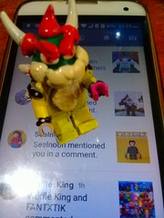 Whattup Bowser?! :) (Blueknight of Chaos) Tags: goomba flickr phone koopa villain evil awesome custom minifigure lego mario bowser