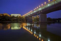 Washington Ave Bridge (Sam Wagner Photography) Tags: minneapolis minnesota bridges mississippi river mighty blue long exposure motion blur wide angle midwest architecture university washington ave bridge