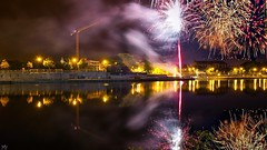 Fireworks 3312 (YᗩSᗰIᘉᗴ HᗴᘉS +6 500 000 thx❀) Tags: fire fireworks meuse river namur belgium wallonie europa hensyasmine night