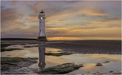 Dusk at New Brighton - explored (karlpage) Tags: lighthouse perchrock newbrighton
