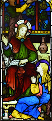 Christ at Bethany with Mary and Martha (1865) (Simon_K) Tags: ely cambridgeshire cambs eastanglia cathedral window glass stained sgm nikon d5300