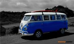 bus vw combi (wazaryph) Tags: vw combi plage bleu été