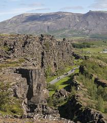 Tectonic Landscape, Pingvellir (perkster24) Tags: pingvellir iceland volcanic fissure basalt tourism travel juji xt2