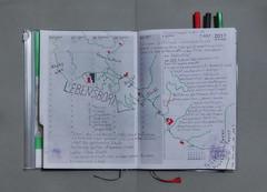 """Agenda Kalender 26th Week 26. June - 2. July / 2: Map (for guidance): Exploration Lebensborn (""""fountain of life"""")  26. Woche 26. Juni - 2. Juli / 2: unterwegs Schafe Lamas Alpakas / 3 Durchsagen in der U3 nicht vom Band (hedbavny) Tags: ausflug unterwegs spaziergang kalender woche week agenda weeklyschedule zeichnung drawing plan map weg path diary tagebuch green grün red rot weis white braun rune lebensborn bayern brown born quelle spring frühling fountain blau blue exploration erkundung exkursion erforschung schweglerstrase westbahnhof schafe sheep linie line band lesezeichen drei three fleck chinesisch japanisch weinbeere frucht fruit obst illustration design dreieck quadrat square triangle buch book guidance wochenbuch hedbavny ingridhedbavny wien vienna austria österreich"""