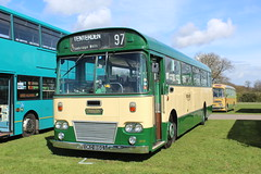 Dual purpose Leopard. (steve vallance coach and bus) Tags: oko816g leylandleopard willowbrook maidstonedistrict southeastbusfestival detling preserved