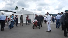 Motorbikes Going to the Assembley Area, Goodwood Festival of Speed (2) (f1jherbert) Tags: nikon coolpix s9700 goodwood festival speed 2017