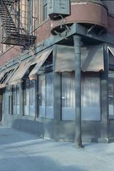 NY6 an old shut down restaurant (Peter William Knight) Tags: analogphotography analog istillshootfilm ishootfilm ibeliveinfilm nyc 35mm nikon nikonfe filmisnotdead rollfilmweek cinestill cinestillfilm