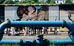 Berlin Wall (Dalliance with Light (Andy Farmer)) Tags: leonidbrezhnev streetart eastsidegallery berlinwall eastgermany the kiss erichhonecker touristy communism thekiss berlin germany de
