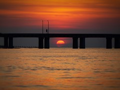 A Bridge to a distant Star (llewelynjarvis) Tags: sunset afterdark sunlight natur shore bay colours clouds drama sky beach water ocean blue landscape sea contrast refraction dramatic nature dof panasonic dmcgf5 lumix g beautiful art light frozen time aperture artwork naturalbeauty inspire pic picture photo photography experiment waves bridge chesapeake chesapeakebaybridgetunnel focused orange red ❤️ nofilter natureenjoying liveyourlife artphotography photographyislifee photographylovers photooftheday yes cloudsopen eveningsky goodday freetime goodvibesonly lowiso shutterspeed prism followme perfect colorful camera digital rr creation awe awesome mood beauty