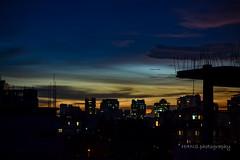 sunset behind dhaka (fahad antar) Tags: sunset behind dhaka city buildings sun lovely weather beutiful bangladesh