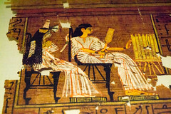 Man and wife (Stray Toaster) Tags: cambridge fitzwilliam museum egyptian book dead papyrus ramose